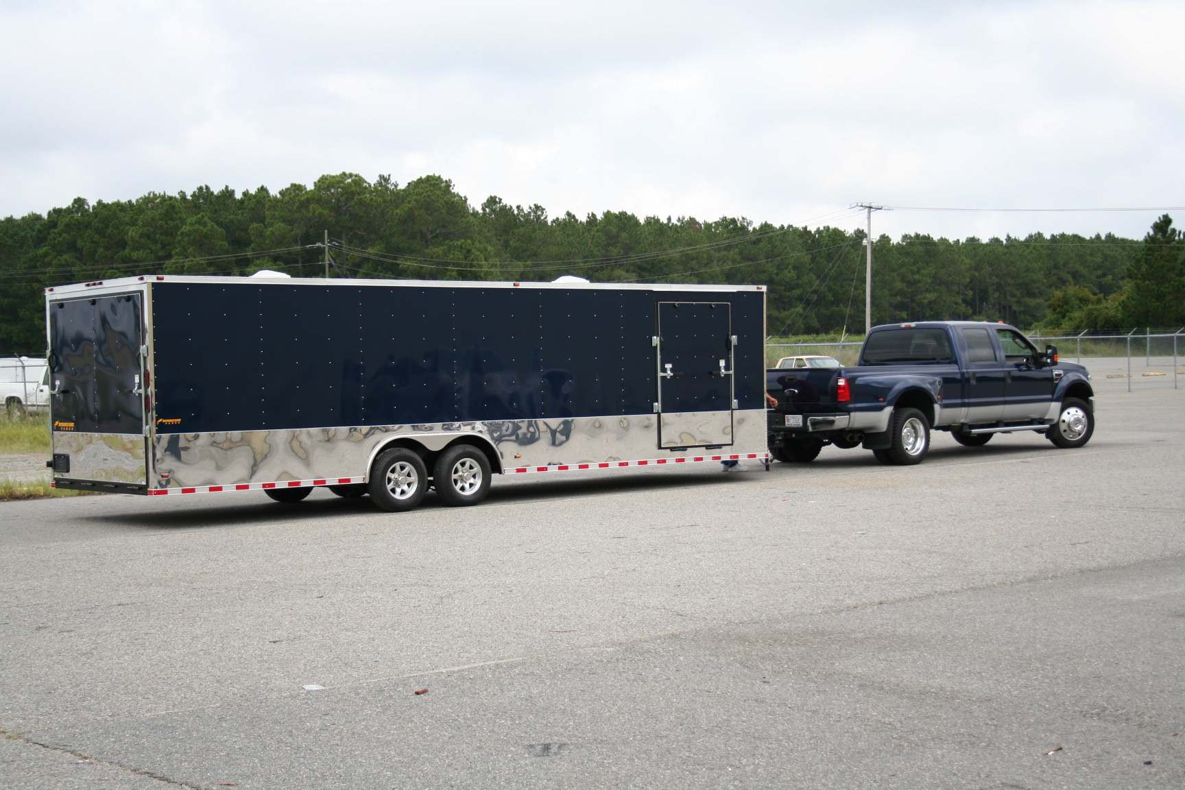 Loaded 8.5 x 28 Race Trailer