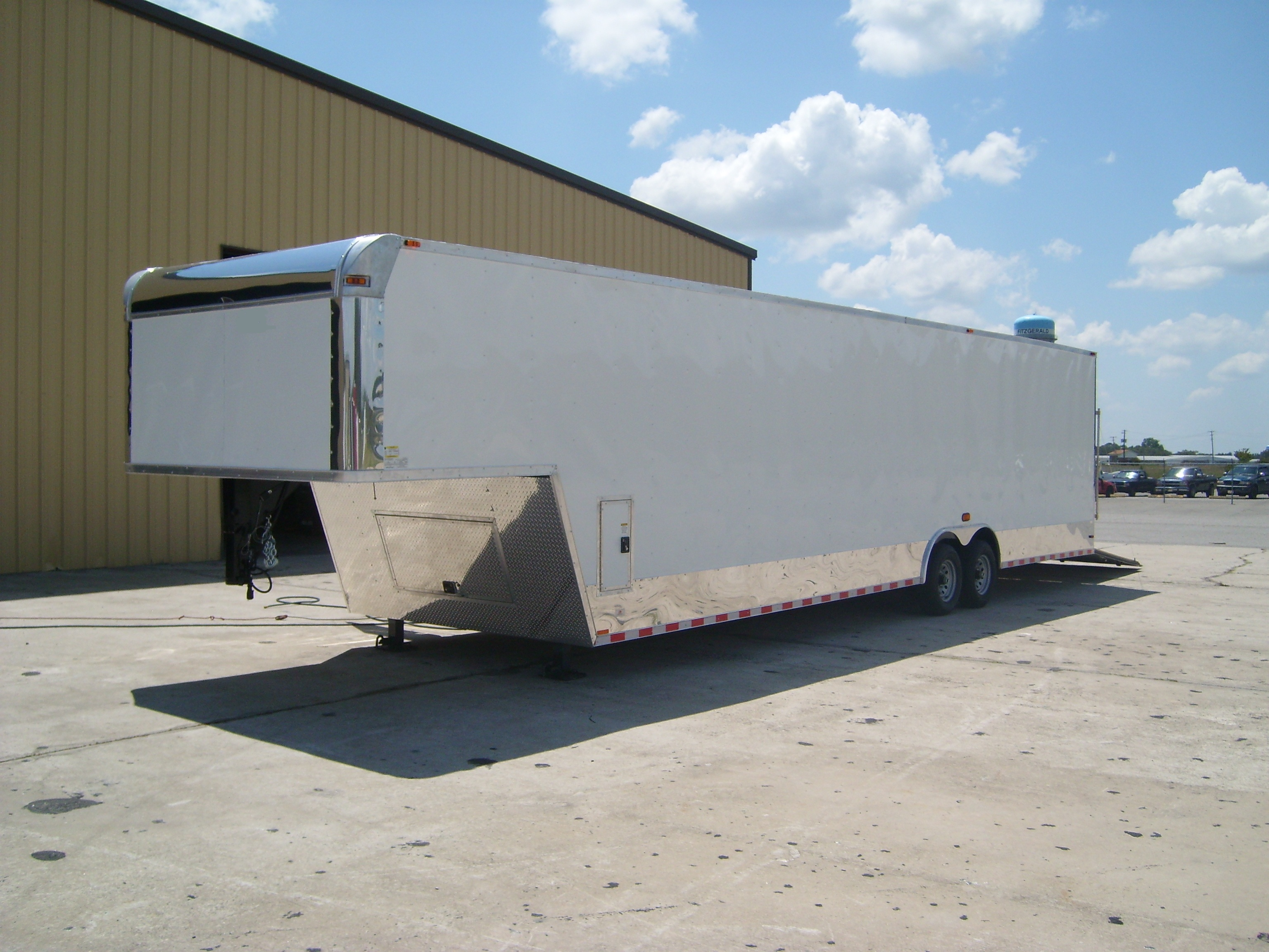 85x36 Tandem Axle Gooseneck Torsion 7 Ft Enclosed Trailers For Double Car Trailer 24 Foot Flatbed 8536