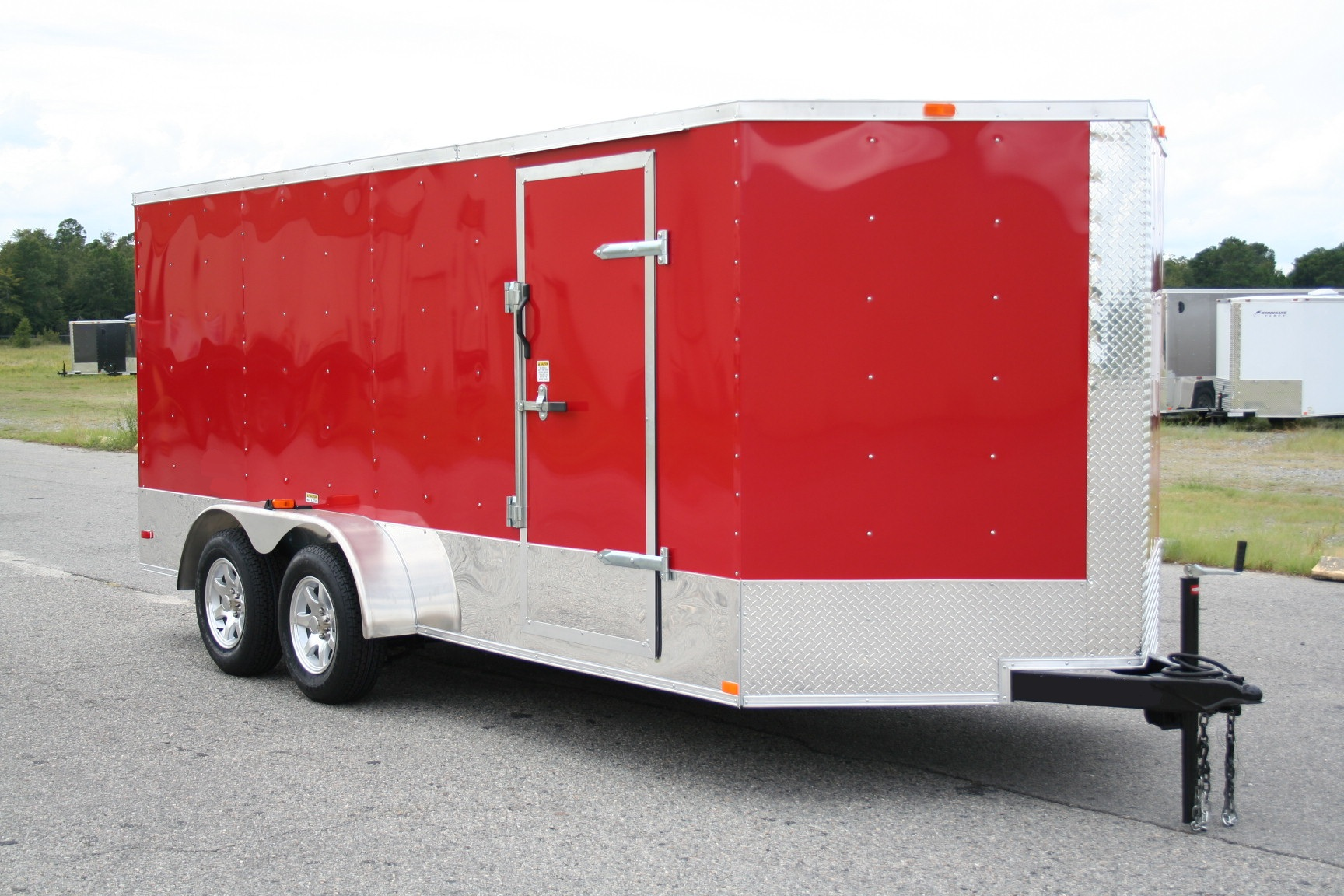 16′ TWO AXLE ENCLOSED TRAILER W/ MOTORCYCLE PACKAGE